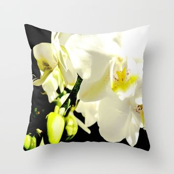 Orchid Flower - Imagine Photography Throw Pillow by Chanelle Lynn
