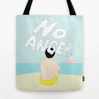 NO ANGER Tote Bag by RUEI