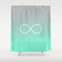 Tiffany Fade Infinity Symbol Shower Curtain by RexLambo