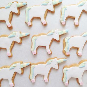 Unicorn Party Biscuits