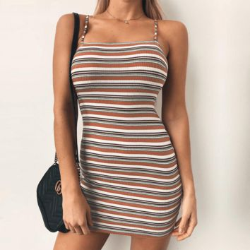 Tara Stripe Mini Dress