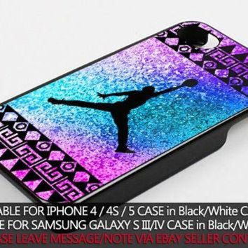 CREYUG7 colorful aztec nike jordan case for iPhone 4/4s/5/5s/5c/6/6+ case,iPod Touch 5th Case,