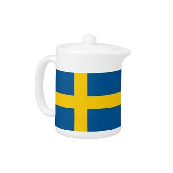 Swedish Flag Teapot