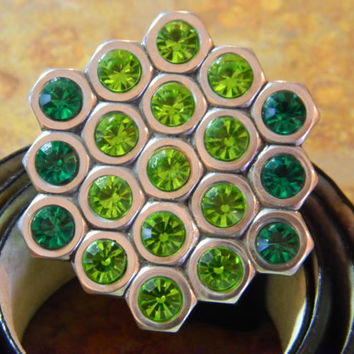 OOAK Hex Nut Belt Buckle with bling