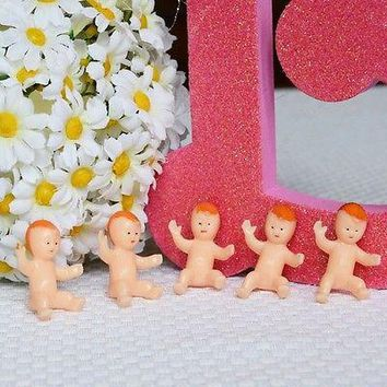 12 Babies with Red Hair Favor Crafts Baby Shower DIY