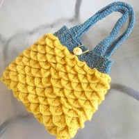 Mermaid Tears Crocheted Purse