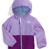 The North Face Infant Girl's 'Flurry' Colorblock Hooded Waterproof Wind Jacket,