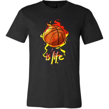 Funny Baller Basketball Ball is Life Sports Tee Shirt
