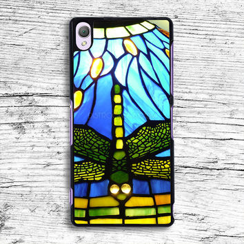 Tiffany Dragonfly Style Stained Glass Sony Xperia Case, iPhone 4s 5s 5c 6s Plus Cases, iPod Touch 4 5 6 case, samsung case, HTC case, LG case, Nexus case, iPad cases