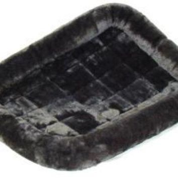 MDIGYN5 Midwest Quiet Time Pet Bed - Plush Fur Pearl Gray - 48