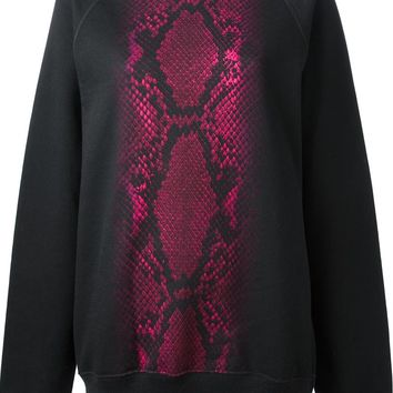 Christopher Kane Snakeskin Stripe Sweatshirt
