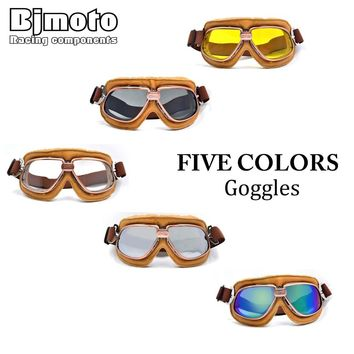 Motorcycle Goggles Snowboard Helmet Racing Scooter Glasses Aviator Ski Aviator Pilot Cruiser Off Road Motocross Goggle 5 Colors