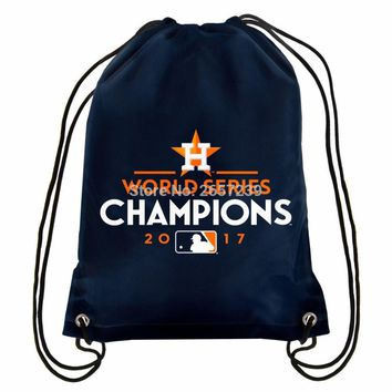 Houston Astros CHAMPIO Drawstring Backpack Digital Printing Pouch NHL 100D Polyester brass grommets custom flag, Free Shipping
