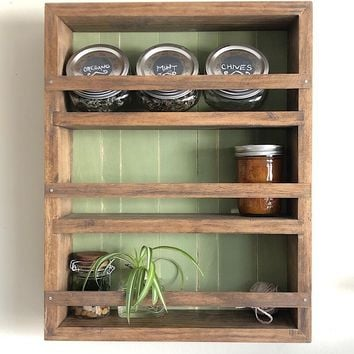 The Mansfield SpIce Rack No. 105 - Wall Mounted or Counter Top Spice Rack