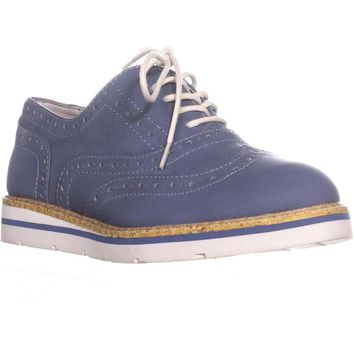 White Mountain Tanner Oxford Sneakers, Blue Wash, 6.5 US