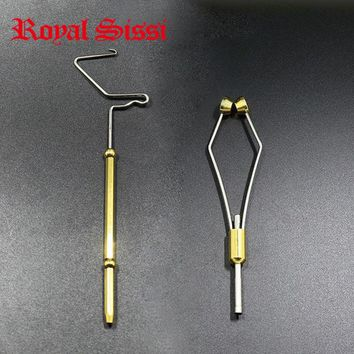 Royal Sissi 2pcs economic Fly tying tools set rotary whip finisher built-in half hitch&Ceramic Tip fly tying Bobbin Holder combo