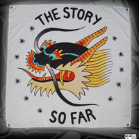 TSSF DRAGON FLAG GREEN ON WHITE