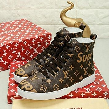 993cc3071580 Boys   Men Louis Vuitton X Supreme Fashion Casual Sneakers Sport