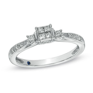 Cherished Promise Collection™ 1/4 CT. T.W. Princess-Cut Quad Diamond Promise Ring in 10K White Gold