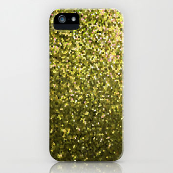 Mosaic Sparkley Texture Gold G188 iPhone & iPod Case by MedusArt