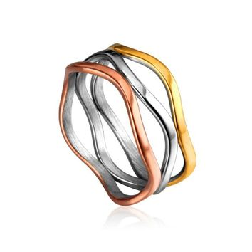 Tri-color Ring - Stainless Steel