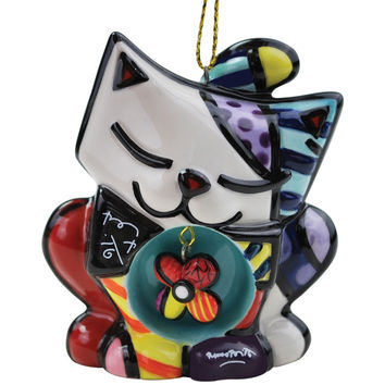 Cat Art Deco Christmas Ornament
