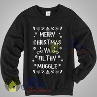 Harry Potter Merry Christmas Ya Filthy Muggle Sweatshirt - Mpcteehouse