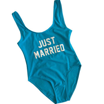 JUST MARRIED Women's One Piece Swimsuit