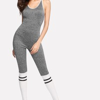 Comfy cross back bodycon jumpsuit
