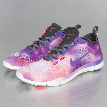 Nike Free 5.0 TR Fit 4 PRT Sneakers White/Purple Venom/Laser Crimson/Anthracite von Def-Shop.com