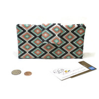 Bifold women wallet, tribal fabric wallet, Southwestern style wallet, Aztec wallet, gift for her, women walet, vegan wallet
