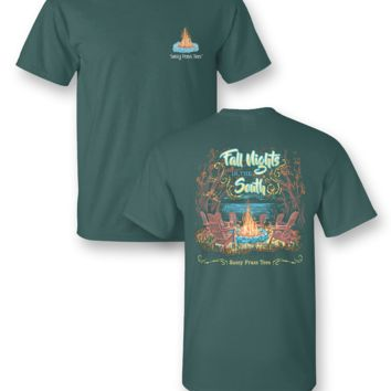 Sassy Frass Fall Nights in the South Bonfire Comfort Colors Bright Girlie T Shirt