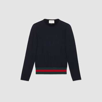 Gucci Cotton sweater with Web