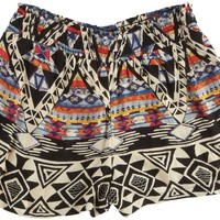 Angie Juniors Aztec Print Shorts:Amazon:Clothing