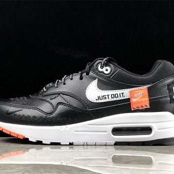 Black Nike Air Max 1 Just Do It Running Shoes 2018 - Beauty Ticks