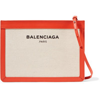 Balenciaga - Leather-trimmed canvas shoulder bag