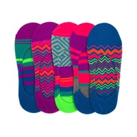 Womens Chevron Stripe Liners 5 pack