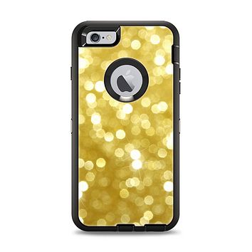 The Bright Golden Unfocused Droplets Apple iPhone 6 Plus Otterbox Defender Case Skin Set