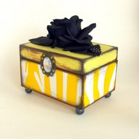 Lemon Drop Trinket box by funwallart on Etsy