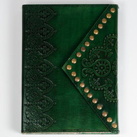 Nailhead Journal with Leather Cover