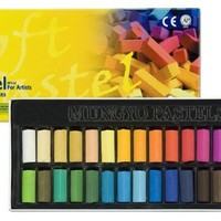 Mungyo Gallery Soft Pastels Cardboard Box Set of 64 Half Sticks - Assorted Colors