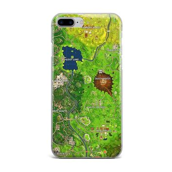 ALL OVER FORTNITE MAP CUSTOM IPHONE CASE