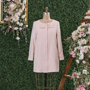 Madeline Pink Bow Coat
