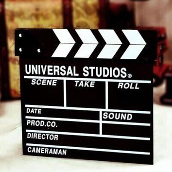 ONETOW Hoomall Clapperboard Photobooth Props Director Movie Clapper Shoot Video Cut Prop DIY Baby Shower New Year Wedding Decoration