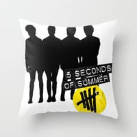 5sos silhouette Throw Pillow by Kikabarros