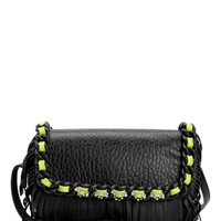 Black Couture Oasis Chain Fringe Crossbody by Juicy Couture, O/S