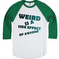 Weird-Unisex White/Evergreen T-Shirt