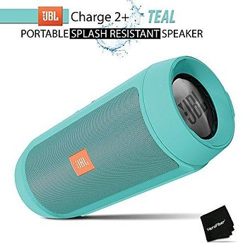 JBL Charge 2+ Splashproof Portable Bluetooth Speaker (Teal)
