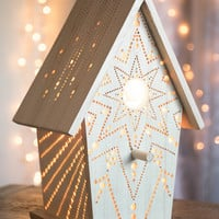 Starburst - Birdhouse Night Light - Woodland Nursery Nightlight - Baby / Kid's Room Lamp
