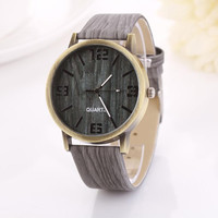 Women's Watch Vintage Wood Grain Watches
